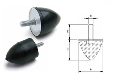 Anti Vibration Conical Rubber Shock Absorber Rubber Dampers High Elasticity